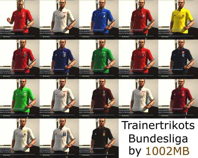 PES 2012 Bundesliga Coach Kits by 1002MB