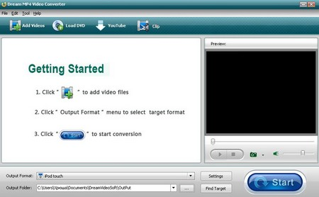 Dream MP4 Video Converter 3.8.8.0