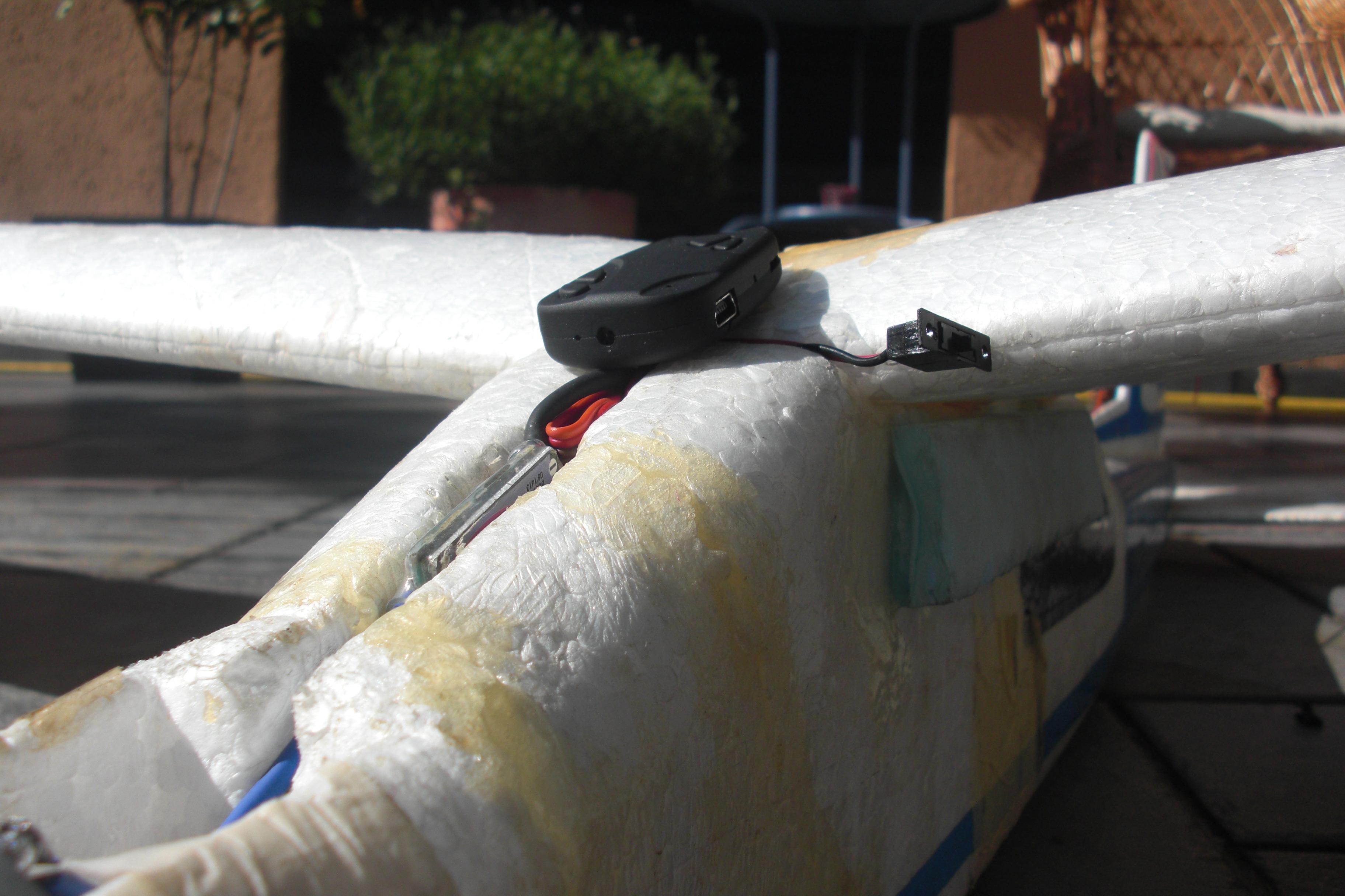 Modellflugzeug mit Kamera